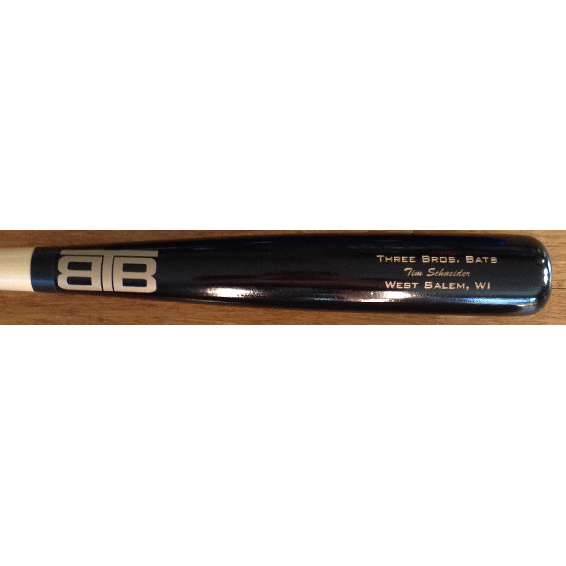 Custom Wooden Baseball Bat Three Brothers Bats