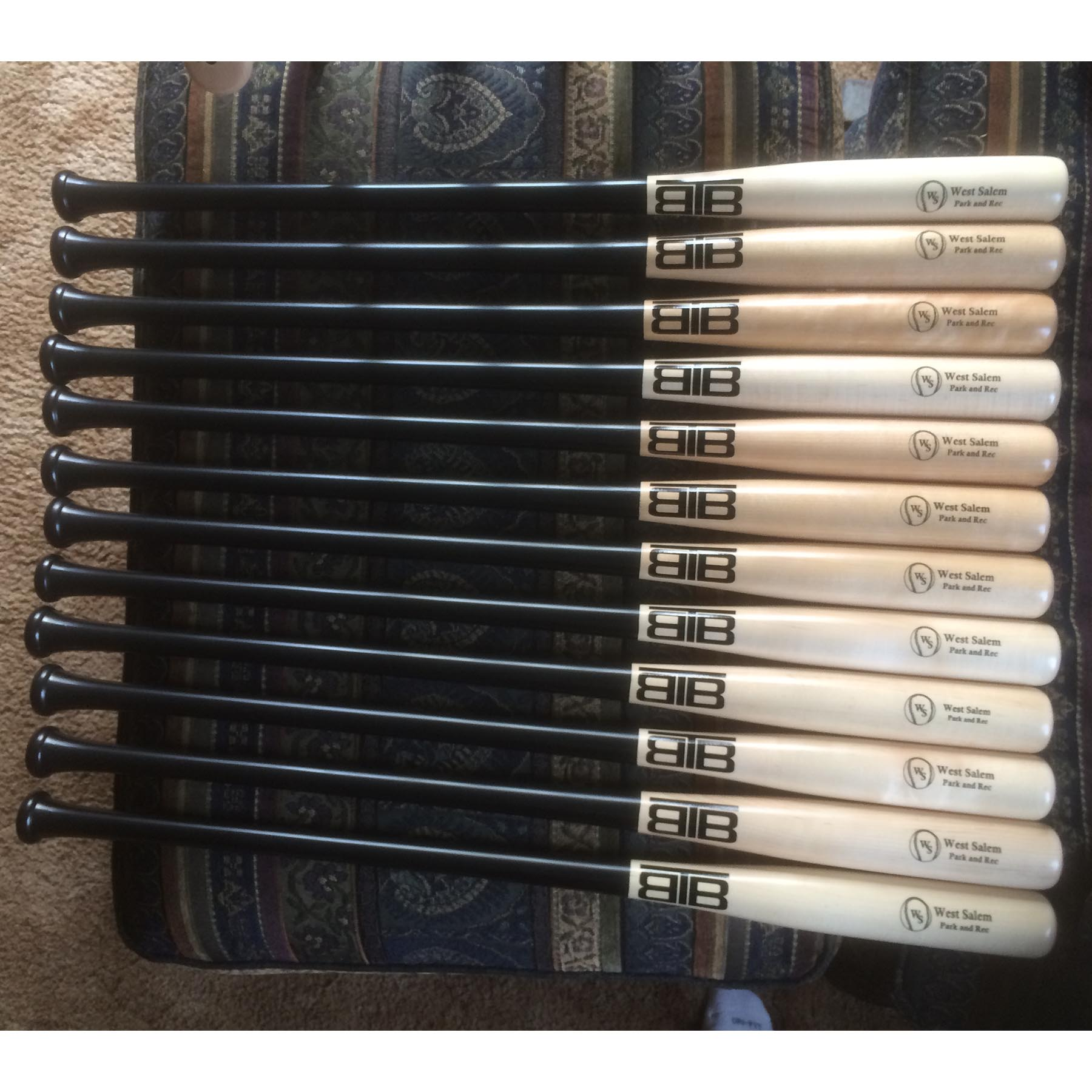 Full Sized Wood Trophy Award Bat Three Brothers Bats